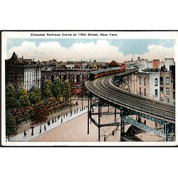 Elevated Railroad Curve at...